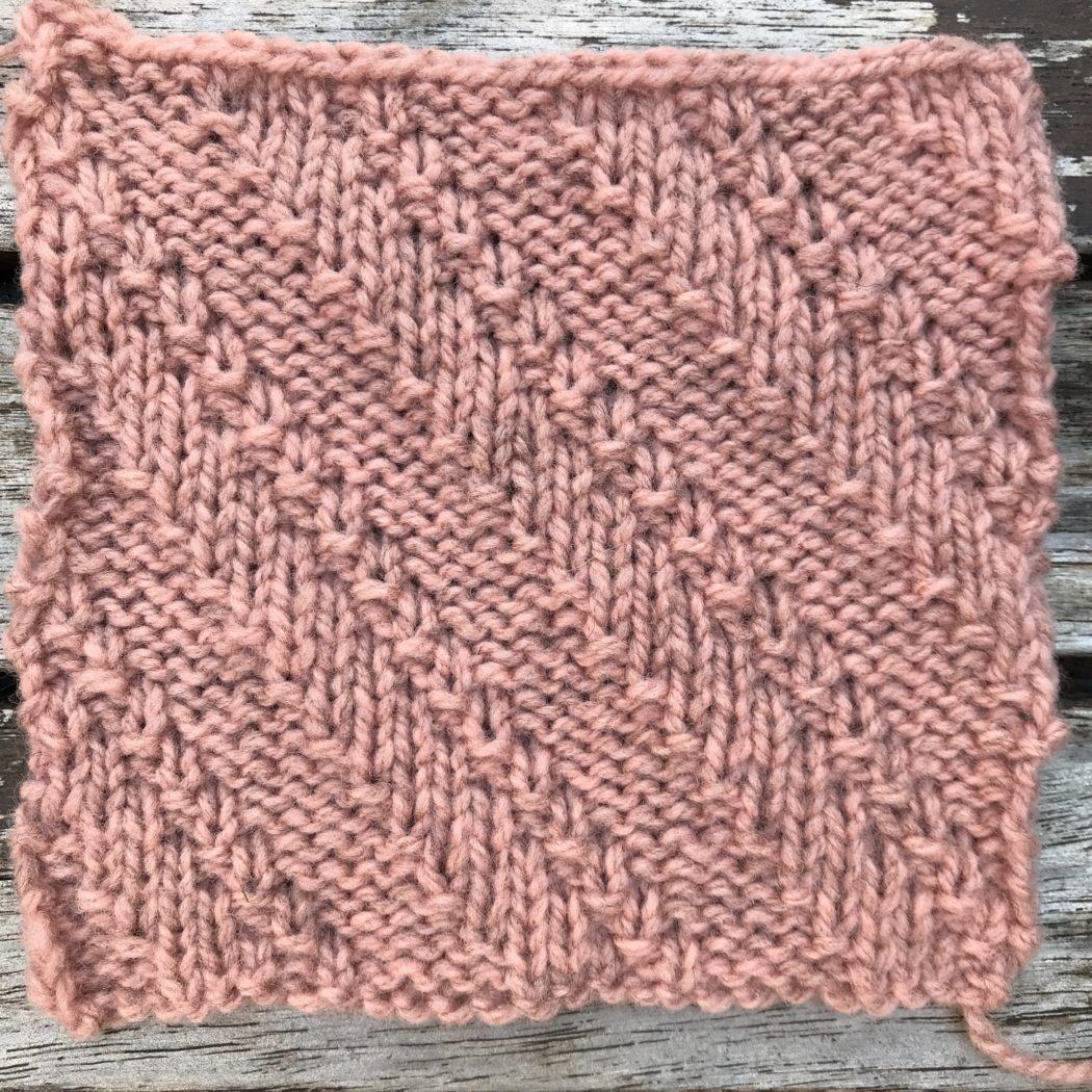 Strickmuster #03 | Horizontal Diagonal Lines Relief Stitch