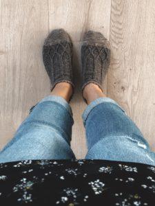 Sock pattern knitting